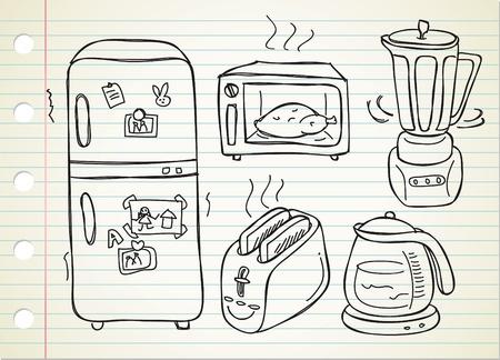 electronic kitchen stuff doodle