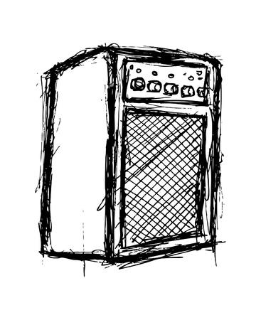 amp: Grunge amplifier doodle