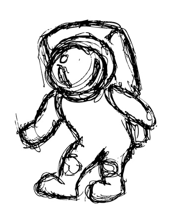 gravity: Grunge astronaut doodle