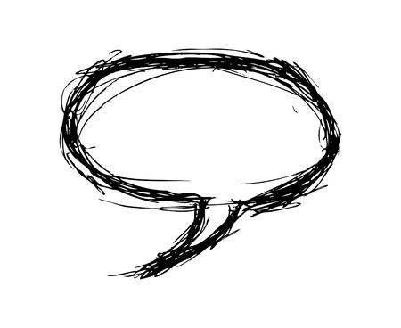 Hand drawn bubble speech