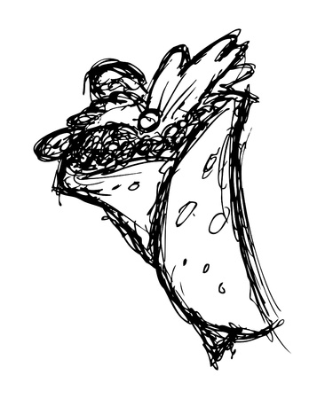 quick snack: Hand drawn burritos