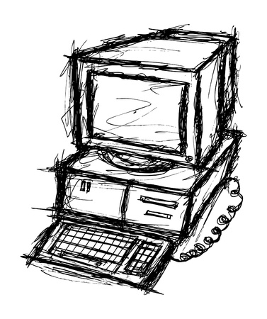 Hand drawn computer Vector