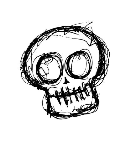 scull: Hand drawn skull