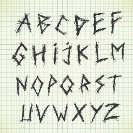 Sketchy alphabet Stock Vector - 21523484