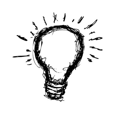 Hand drawn light bulb Stock Vector - 21523535