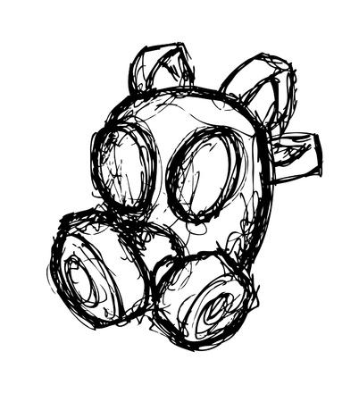 oxygen mask: Hand drawn oxygen mask