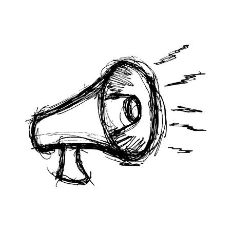 Hand drawn megaphone Illustration
