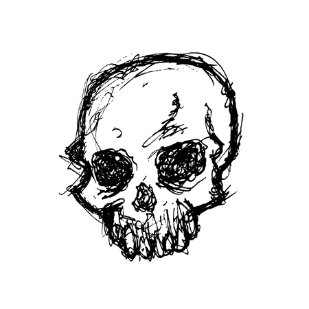 terrific: hand drawn skull Illustration