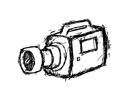 handy cam: hand drawn video camera