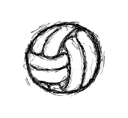 pelota de voley: bola extraída mano