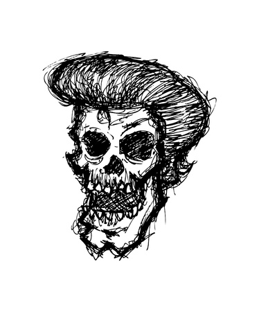 hand drawn zombie head Vector