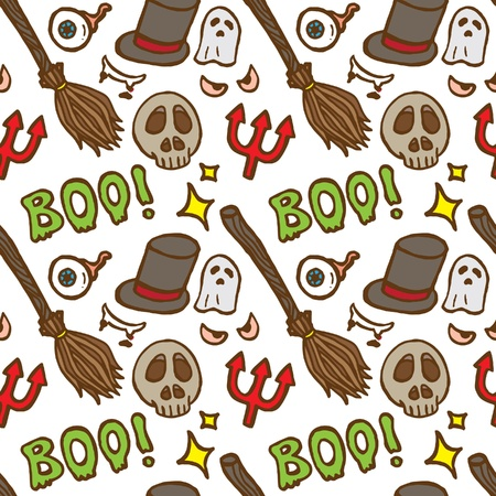 hand drawn Halloween pattern Stock Vector - 21523651