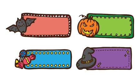 cute cartoon Halloween label  Vector