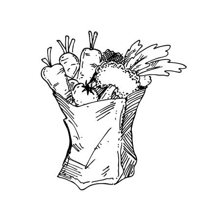 sac d'épicerie à main levée