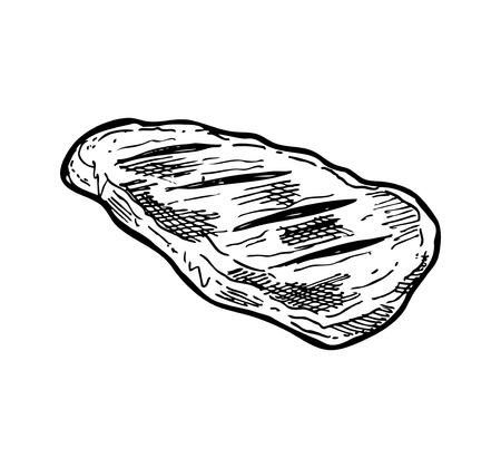 Hand drawn meat