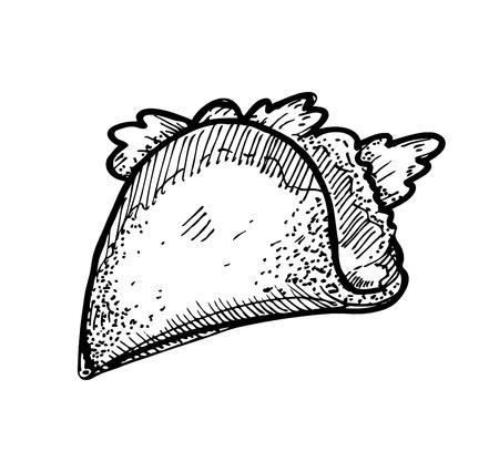 Tacos dibujados a mano Foto de archivo - 21523776