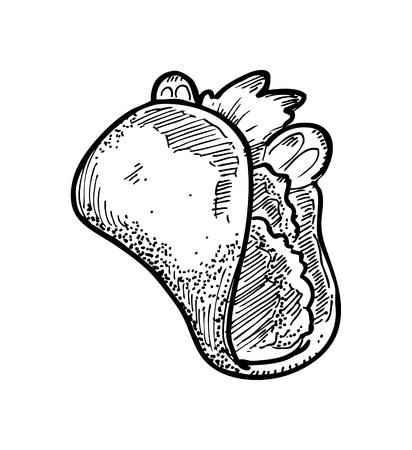 tacos: hand drawn tacos Illustration
