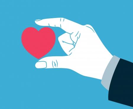 hand giving heart symbol Stock Vector - 21523790