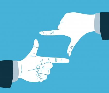 Finger Rahmen Standard-Bild - 21390216