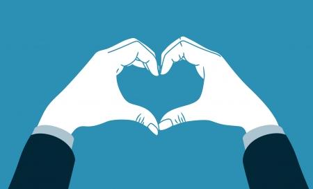 Hand machen Herz-Symbol Standard-Bild - 21390217