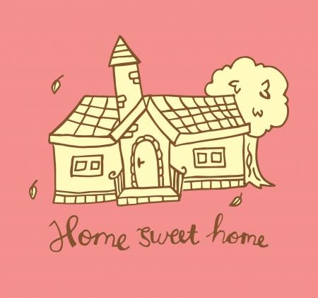 kid s illustration: house kid s illustration