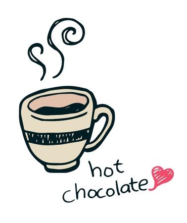 chocolat chaud: Hot doodle de chocolat Illustration