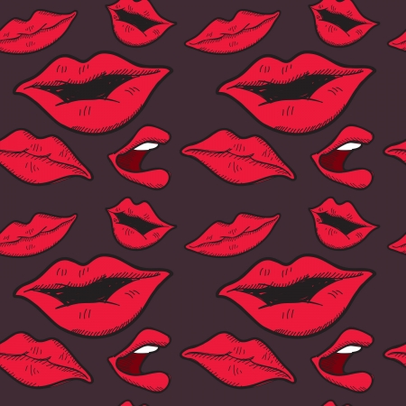 lips seamless background Vector