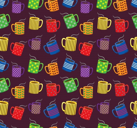 clip arts: colorful mugs background