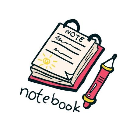 Notebook doodle Vector