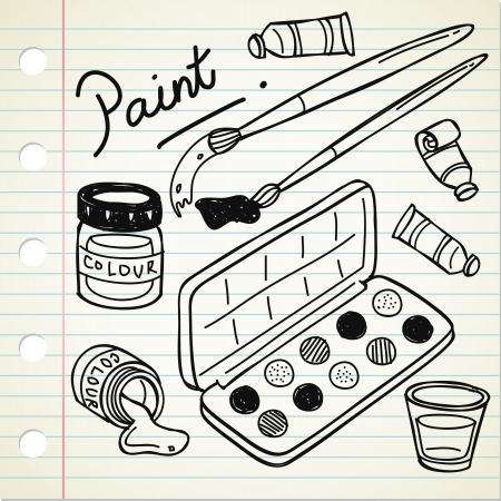 art and craft equipment: painting tools