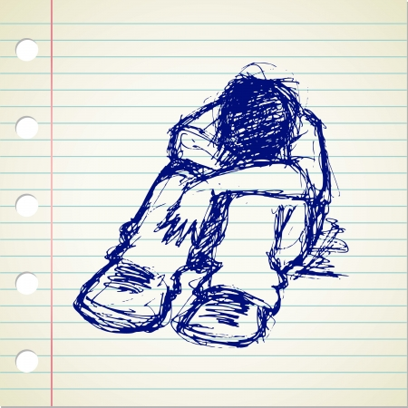free clip art: Stress people doodle