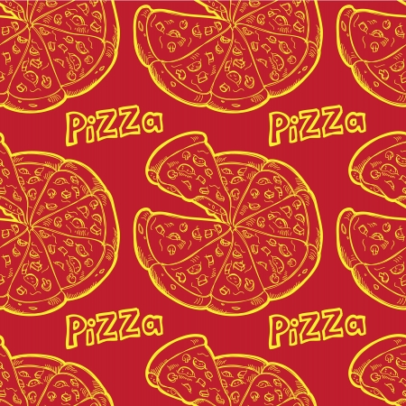 pizza seamless background Imagens - 21390285