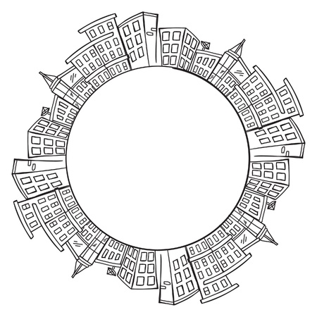 city skylines with copy space