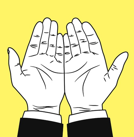 praying hand  Vector