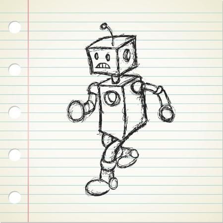 robot doodle Stock Vector - 21393945