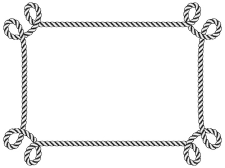 rope frame  Vectores