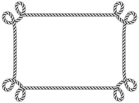 Marco de la cuerda Foto de archivo - 21393949