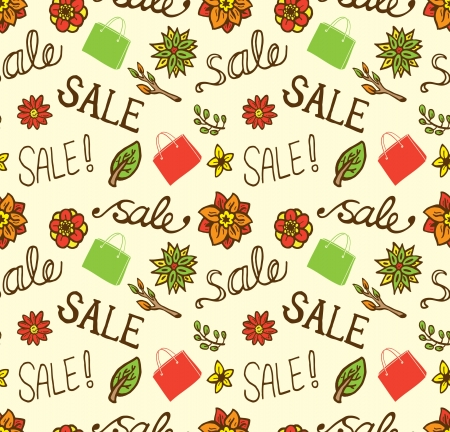 vintage sale seamless pattern Vector
