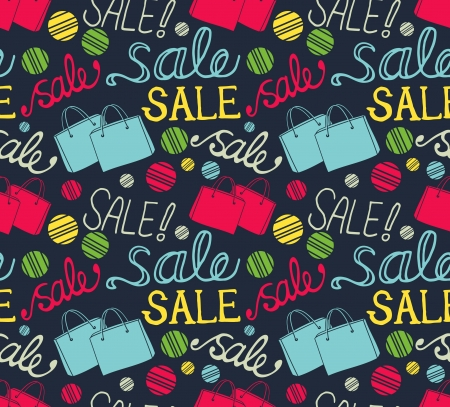 vintage sale pattern background Vector
