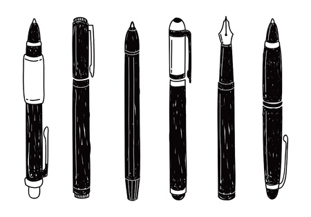 set of pen doodle Illustration