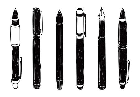 set van pen doodle