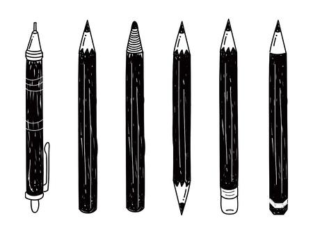 set of pencil doodle