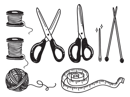 measure tape: sewing kit doodle