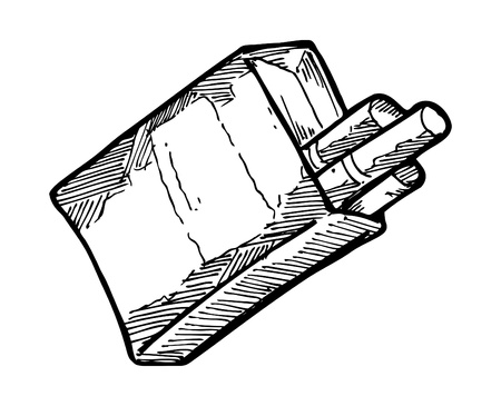 sketchy cigarette pack Vector