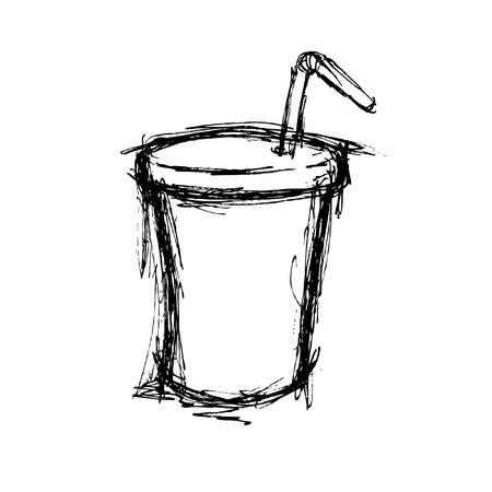 carbonated beverage: sketchy soft drink in doodle style Illustration