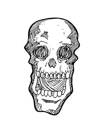 horrifying: sketchy skull Illustration