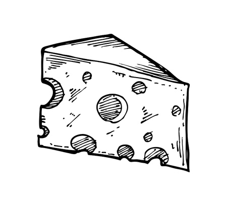 sketchy cheese Vector