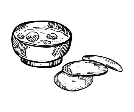 garlic bread: sketchy soup with garlic bread