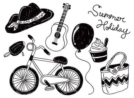 summer holiday doodle Vector