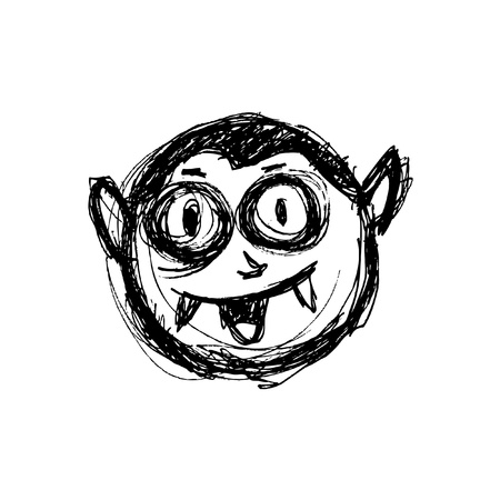 sketchy vampire head in doodle style Stock Vector - 21394085